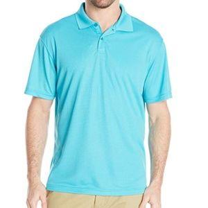 Haggar Men's Short Sleeve Solid Textured Knit Polo